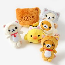 Rilakkuma Motto Nonbiri Neko Mini Plush Collection
