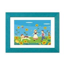 """""""Himawari"""" Chara Fine Graph Dina*Dina Masterpiece Pictures Print"""