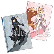 Sword Art Online Cover Collection Kirito & Asuna Clear File Set