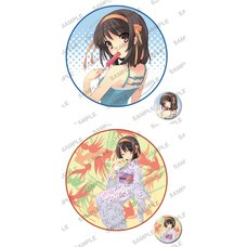 Haruhi Suzumiya Series Circle Towel & Pin Badge Set