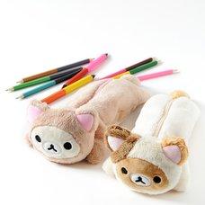 Rilakkuma Motto Nonbiri Neko Plush Pencil Case