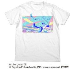 Hatsune Miku Jagabata Ver. Full-Color White T-Shirt