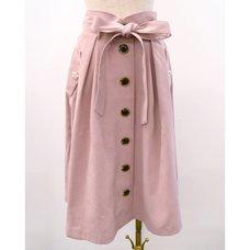 LIZ LISA Waist Ribbon Mid-Length Skirt