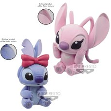 Fluffy Puffy Disney Characters Stitch & Angel