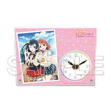 Love Live! Nijigasaki High School Idol Club Ayumu Uehara & Setsuna Yuki Acrylic Clock