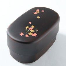 Sakura Komachi Maki-e Printed 2-Tier Bento Box