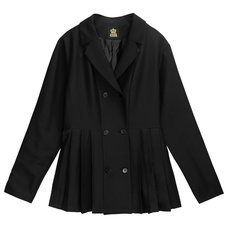LISTEN FLAVOR Trenchcoat-Style Pleated Jacket
