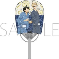 Haikyu!! Tsukishima & Yamaguchi Mini Oval Fan