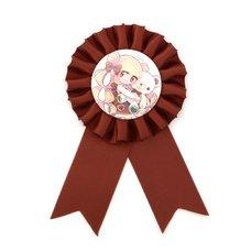 BEMINE Teddy & Girl Chocolate Rosette Ribbon Badge