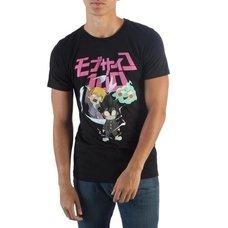 Mob Psycho 100 Group Ghost & Chibi T-Shirt