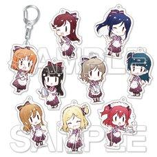 Love Live! Sunshine!! -9 Waitresses☆- Trading Acrylic Keychain Complete Box Set