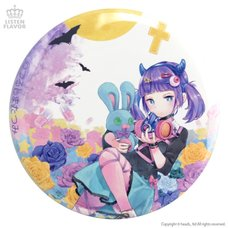 LISTEN FLAVOR x Tatsumi Tsurushima Moonlit Roses Punk Girl Collab Pin Badge