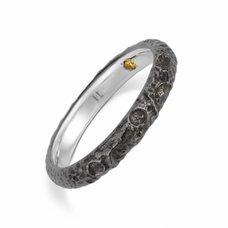 Evangelion Platinum Black Moon Ring