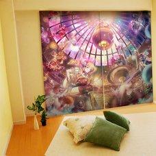 Yuu Illustrated Curtains - Planet