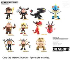"""How to Train Your Dragon 3.25"""" Action Vinyls - Heroes/Humans"""