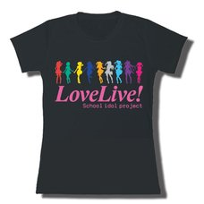 Love Live! Muse Colored Silhouettes Juniors' T-Shirt
