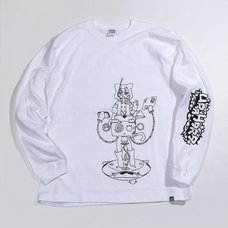 PARK Urahara Kotoko Line Drawing Long Sleeve T-Shirt