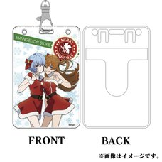Eva Store Original Christmas Rei & Asuka Pass Case