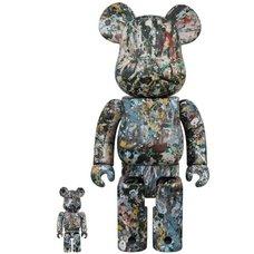BE@RBRICK Jackson Pollock Ver. 2.0 100% & 400%