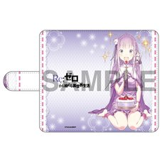 Re:Zero -Starting Life in Another World- Emilia's Birthday Life Notebook-Style iPhone Case: Shinichiro Otsuka Ver.