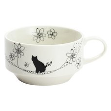 Flowers & Cat Stacking Soup Cup