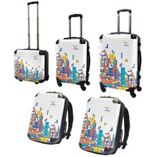 Tetris Art Suitcase & Rucksack Collection: Block (White)