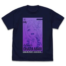 Love Live! Sunshine!! Mari Ohara: All Stars Ver. Navy T-Shirt