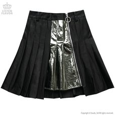 LISTEN FLAVOR Zip Pleated Skirt