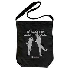 Dance Dance Revolution Show Me Your Moves Black Shoulder Tote Bag