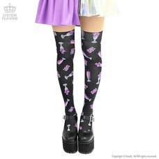 LISTEN FLAVOR Sweets Knee-High Socks