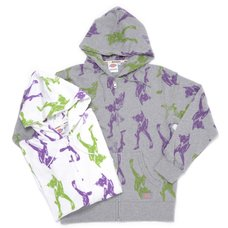 Evangelion x Dickies Unit-01 Print Zip-Up Hoodie