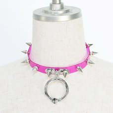ACDC RAG Cherry Pink Ball Ring Needle Choker