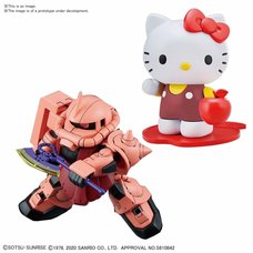 Hello Kitty x SD Gundam Cross Silhouette MS-06S Char's Zaku II