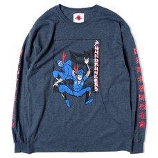 [PDS x Kinnikuman] The Ninja & Aitsu Heather Black Long Sleeve T-Shirt