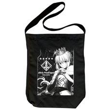 Fate/Grand Order Saber/Altria Pendragon Black Shoulder Tote Bag
