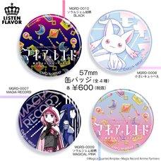 LISTEN FLAVOR x Magia Record: Puella Magi Madoka Magica Side Story Collab Pin Badge Collection