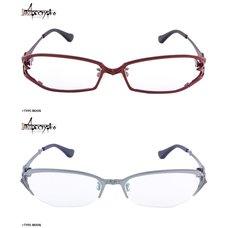 """[Set of Both w/ Bonus] Fate/Apocrypha Ruler (Jeanne d'Arc) Model Glasses (Clear Lenses) & Saber of """"Red"""" (Mordred) Model Glasses (Clear Lenses)"""