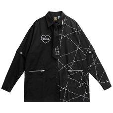 LISTEN FLAVOR Barbed Wire 2-Way Shirt w/ Necktie