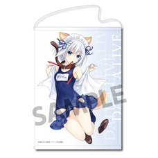 Date A Live Origami Tobiichi: School Swimsuit Dog Ver. B2-Size Tapestry
