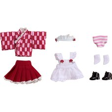 Nendoroid Doll: Outfit Set (Japanese-Style Maid - Pink)