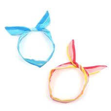 Le cocone Adult Resort Artsy Striped Ribbon Wire Headband