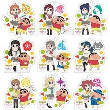 Crayon Shin-chan x Love Live! Sunshine!! Trading Acrylic Keychain Box Set