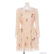 Swankiss Rose Lace Dress