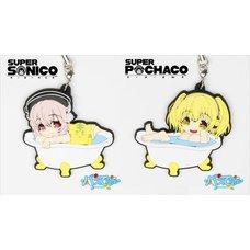 Super Sonico & Super Pochaco Rubber Bath Straps
