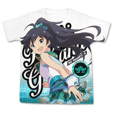 The Idolm@ster One For All Hibiki Ganaha Full-Color White T-Shirt