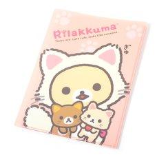 Rilakkuma Motto Nonbiri Neko 10-Pocket Clear File