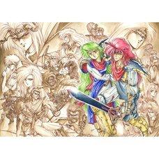 Akihiro Kimura Emerald Dragon Tatakai no Kioku Reproduction Art Print