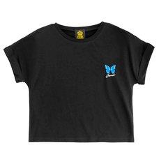 LISTEN FLAVOR BASIC Morpho Embroidered T-Shirt