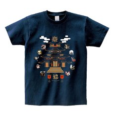 Monster Hunter Rise Monster Icon Navy T-Shirt