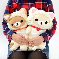 Rilakkuma Motto Nonbiri Neko Huggable Plush Collection